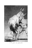 You Who Cannot, 1799 Giclee Print by Francisco de Goya