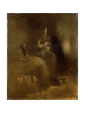 Woman with a Baby in Her Lap, 1890S Impression giclée par Eugene Carriere
