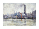 Waterloo Bridge and St Paul's from the Embankment, C1875-1934 Giclee Print by Emily Murray Paterson