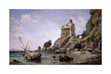 Salerno, Italy, 1849 Giclee Print by Edward William Cooke