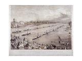 The Fleet of the City Steamboats Passing in Review Order Off Chelsea, London, C1860 Giclee Print by Edwin Jewitt