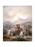 The Shepherd's Meal, 1844 Giclee Print by Francis William Topham