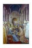 St Sixtus II and His Deacon St Laurence, Mid 15th Century Giclee Print by  Fra Angelico
