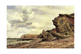 Triassic Cliffs, Blue Anchor, North Somerset, 1866 Giclee Print by Edward William Cooke