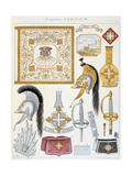 Mousquetaires De La Garde Du Roi, Insignia Giclee Print by Eugene Titeux