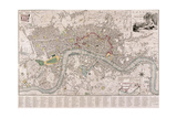Map of London, 1797 Stampa giclée di Edward Mogg