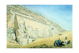 Statues of Rameses II Outside the Entrance to the Main Temple at Abu Simbel, Egypt, 13th Century Bc Giclee Print by Frederick Catherwood
