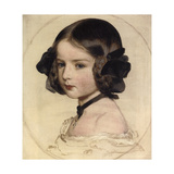 Princess Clotilde of Saxe-Coburg and Gotha, (1846-192), 1855 Giclee Print by Franz Xaver Winterhalter