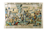 Battle of Essling - Death of Montebello, May 1809 Giclee Print by Francois Georgin