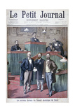 The New Municipal Council of Paris, 1900 Gicleetryck av Eugene Damblans
