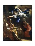 St Joseph's Dream, C1677-1747 Giclée-tryk af Francesco Solimena