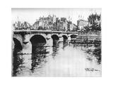 Pont Neuf, C1870-1930 Giclee Print by Eugene Bejot
