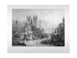 Debarkation at Westminster Bridge on Lord Mayor's Day, London, C1836 Giclee Print by Edward Goodall