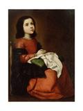 The Childhood of the Virgin, C1660 Giclée-tryk af Francisco de Zurbarán