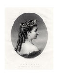 Empress Eugenie, (1826-192), Empress Consort of France (1853-187), 19th Century Giclee Print by Francis Holl
