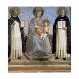Virgin and Child with St Anthony of Padua and St Thomas Aquinas, Early 15th Century Giclée-tryk af  Fra Angelico