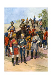 The King's Own Regiments of the Indian Army Giclee Print by Frederic De Haenen