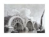 Blackfriars Bridge, London, 1777 Giclee Print by Edward Rooker