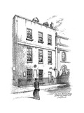 Sir Isaac Newton's House, St Martins Street, London, 1912 Giclee Print by Frederick Adcock