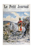Negus of Ethiopia, Menelik II, at the Battle of Adoua, 1898 Giclee Print by F Meaulle