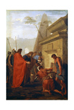 Darius the Great Opening the Tomb of Nitocris, 17th Century Giclee Print by Eustache Le Sueur