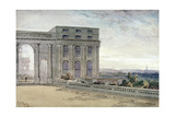 View of Chester Terrace, Regent's Park, London, 1830 Giclee Print by Edmund Thomas Parris
