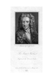 Sir Isaac Newton, English Mathematician, Astronomer and Physicist Giclee Print by Edward Smith