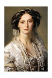 Portrait of Empress Maria Alexandrovna, 1857 Giclee Print by Franz Xaver Winterhalter