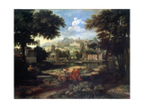 Landscape with Moses Saved from the Nile, Late 17th or 18th Century Giclee Print by Etienne Allegrain