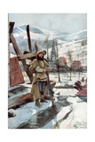 Standing Guard Near Metzeral, Alsace, January 1916 Giclee Print by Francois Flameng