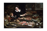 A Fishmonger's Shop, C1616-1618 Giclee Print by Frans Snyders
