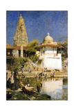 Banganga Tank and Walkeshwar Temple at Bombay, 1890S Giclee Print by Edwin Lord Weeks