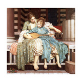 The Music Lesson, 1877 Giclee Print by Frederic Leighton