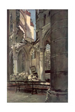Interior of the Ruins of Saint Jean Des Vignes Abbey, Soissons, France, 18 May 1915 Giclee Print by Francois Flameng