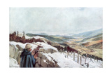 Trenches Overlooking the Munster Valley with the Rhine in the Distance, January 1916 Giclee Print by Francois Flameng