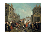 Carnival in the Streets of Paris, 1757 Giclee Print by Etienne Jeaurat