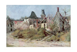 In the Village of Craonnelle, 9th May 1917, 1917 Giclee Print by Francois Flameng
