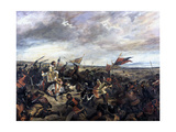 Battle of Poitiers, 1830 Giclee Print by Eugène Delacroix