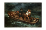 After a Shipwreck, 1847 Reproduction procédé giclée par Eugène Delacroix