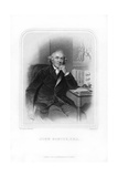 John Hunter, Scottish Surgeon, 1870 Giclee Print by Francis Holl