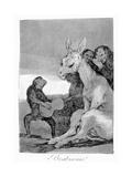 Bravo! a Caricature of Musical Evenings, 1799 Giclée-tryk af Francisco de Goya