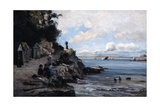 Saturday at the Woman's Bathing Beach, 1876 Giclee Print by Emmanuel Lansyer