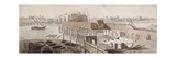 Construction of Blackfriars Bridge, C1762 Giclee Print by Francis Grose
