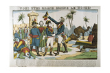Napoleon and General Kleber on the Expedition to Egypt, 1798 Giclee Print by Francois Georgin