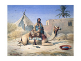 Bedouin and Camel, 1830 Giclee Print by Emile Prisse d'Avennes