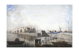 View of the Temporary Bridge at Blackfriars, London, 1762 Giclee Print by Francis Grose