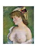 Blonde Woman with Bare Breasts, 1878 Giclee Print by Edouard Manet