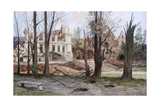 The Ruins of a House, Soupir, First World War, April 1917 Giclee Print by Francois Flameng