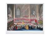 The Coronation of King George IV in Westminster Abbey, London, 19th July, 1821 Giclee Print by Frederick Christian Lewis