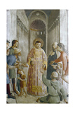 St Laurence Giving Alms to the Poor, Mid 15th Century Giclee Print by  Fra Angelico